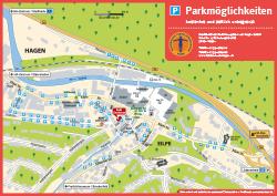 Parkmöglichkeiten, Karte, Anfahrtskarte, Anfahrtsplan, Anfahrtsskizze, Lageplan, Anfahrtsbeschreibung, Wegbeschreibung, grebemaps, Hagen, Karte
