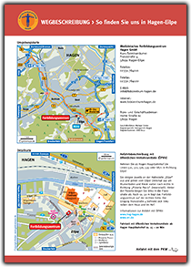 Medizinisches Fortbildungszentrum Hagen, Anfahrtskarte, Anfahrtsplan, Anfahrtsskizze, Lageplan, Anfahrtsbeschreibung, Wegbeschreibung, grebemaps, Hagen, Karte